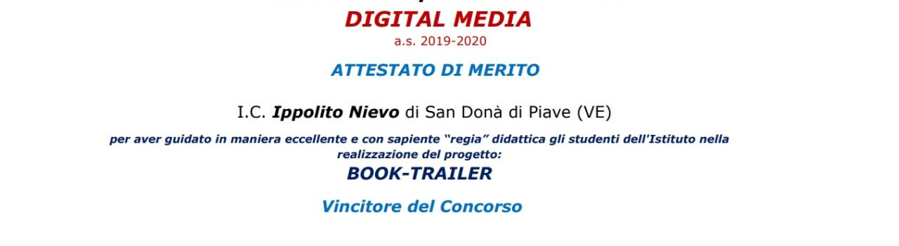 Attestati di merito Concorso Digital Media